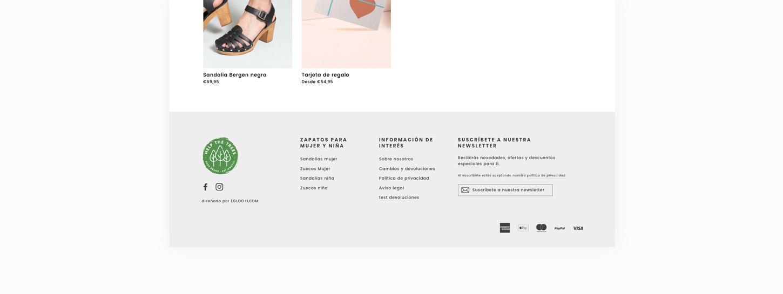 diseño tienda online marca zapatos