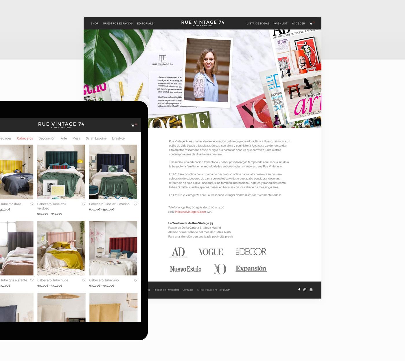 diseño de tienda online decoracion
