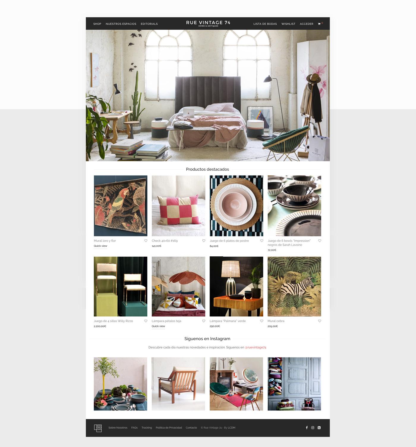 diseño de tienda online de decoración