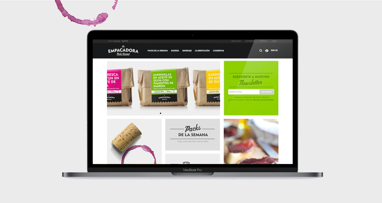diseño tienda online gourmet