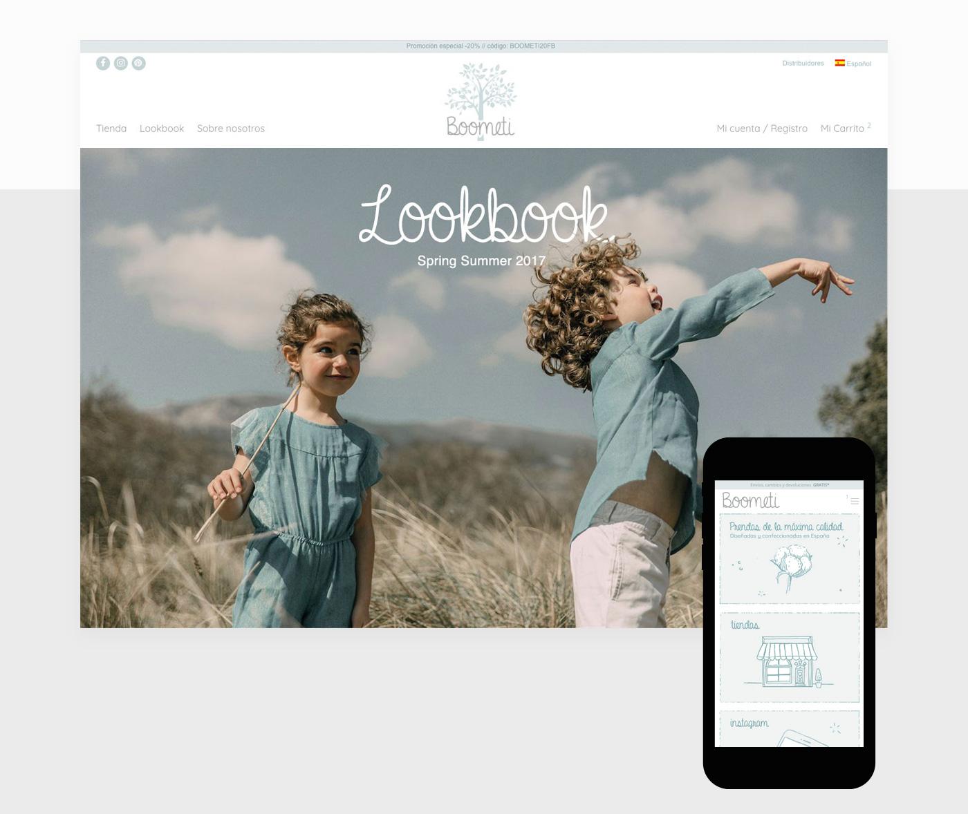 diseño lookbook tienda online moda