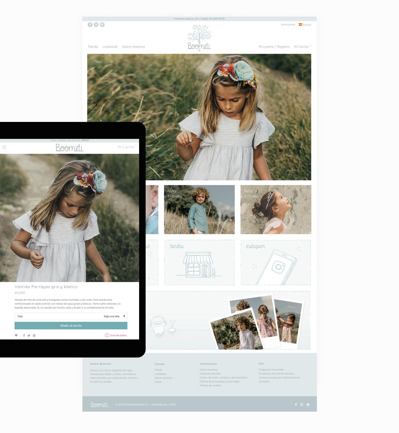 diseño de tienda online de ropa para niños